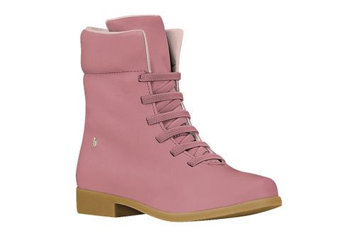 Bibi Classic Girls Leather Lace Up Boots